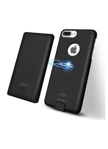Jacobson iPhone 6 Plus / 7 Plus Kablosuz Manyetik Telefon Kılıflı Powerbank Siyah